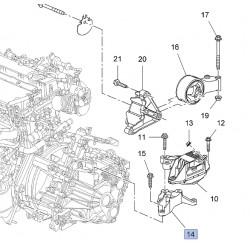 Wspornik, mocowanie silnika, lewy 13248569 (Astra J, Cascada, Zafira C 1.4 / 1.6)