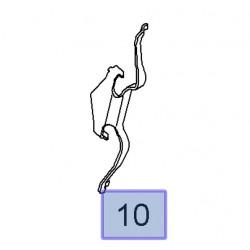Sprężyna blokująca przedniego zacisku 93195709 (Signum, Vectra C)