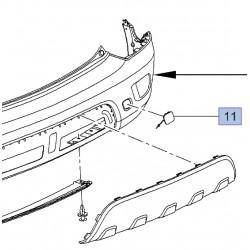 Zaślepka, klapka haka holowniczego tylnego zderzaka 25980572 (Mokka)