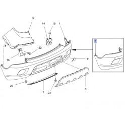 Zderzak tylny [dla czujników parkowania] 95365616 (Mokka)