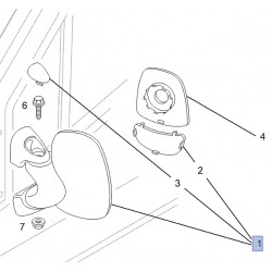 Lusterko zewnętrzne, wsteczne 91160049 (Vivaro A)