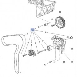 Komplet rozrządu A20DTR, A20DTH 95507811 (Astra J, Cascada, Insignia, Zafira C)