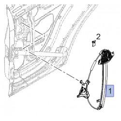 Podnośnik szyby tylnych lewych drzwi 96624334 (Antara)