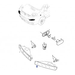 Kierunkowskaz przedni lewy 91166438 (Vivaro A)