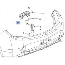 Wspornik, mocowanie prawe tylnego zderzaka 13422386 (Cascada)