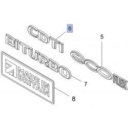 "Emblemat tylny, napis ""CDTI"" 93451381 (Vivaro B)"