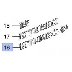"Emblemat tylny, napis ""BiTurbo 4x4"" 13309069 (Insignia)"