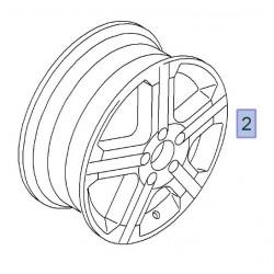Felga aluminiowa czarna 16 cali Sport 6JX16 (Vivaro A)