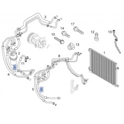 Przewód, rurki klimatyzacji niskiego ciśnienia 93854371 (Vivaro A)