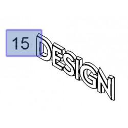 Napis emblemat ''DESIGN'' drzwi przednich 13318984 (Astra H, Agila A,B, Corsa C,D, Meriva A, Signum, Vectra C, Zafira B)
