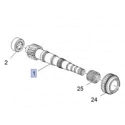 Wałek główny skrzyni biegów F17 94730761 (Adam, Astra J, K)