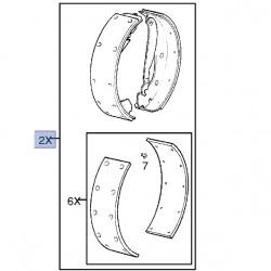 Oryginalne szczęki hamulcowe 90542863 (Astra F, G, Classic)