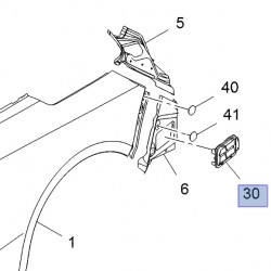 Kratka wentylacyjna poszycia tylnego 13502040 (Cascada)