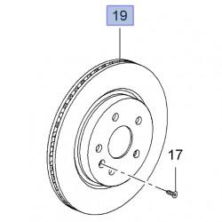 Tarcza hamulcowa wentylowana tylna 315mm 13502199 (Insignia)