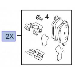 Klocki hamulcowe tył 93169143 (Astra G, H, Combo C, Meriva A, B, Zafira B)