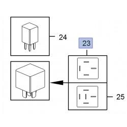 Przekaźnik wielofunkcyjny, brązowy 13306940 (Ampera, Cascada, Astra J)