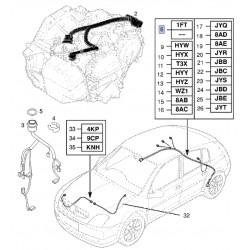 Wiązka elektryczna czujnika ABS przód 24418887 (Signum, Vectra C)