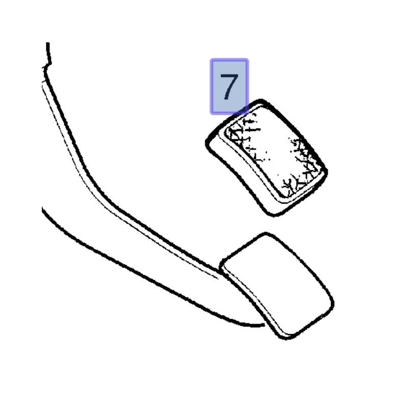 Gumowa nakładka na pedał sprzęgła 24404216 (Corsa C, Meriva A, Tigra B)