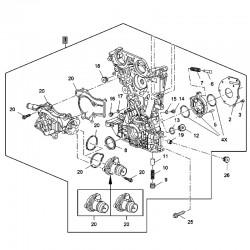 Przednia pokrywa silnika 25197591 (Adam, Astra J, Corsa D, E, Meriva B)