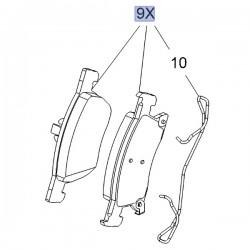 Klocki hamulcowe przód 276mm 39103797 (Astra K)