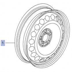 Felga stalowa 4J X 17 13259232 (Astra J, Cascada)