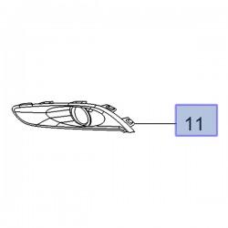 Ramka, kratka halogenu lewego 13416573 (Cascada)