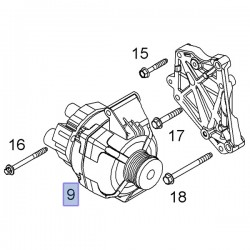 Alternator, silniki 1.3 13256932 (Corsa D, Meriva B)
