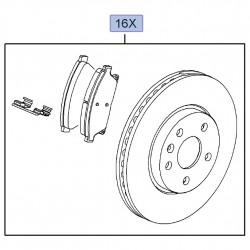 Zestaw tarcze i klocki hamulcowe przednie 95516916 (Astra J, Zafira C)