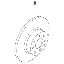 Tarcza hamulcowa przednia 284 mm 95515331 (Combo D)