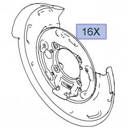 Osłona tarczy hamulcowej tył, prawa 20935792 (Antara)