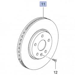Tarcza hamulcowa przednia 321mm 13586854 (Astra J, Cascada, Zafira C)
