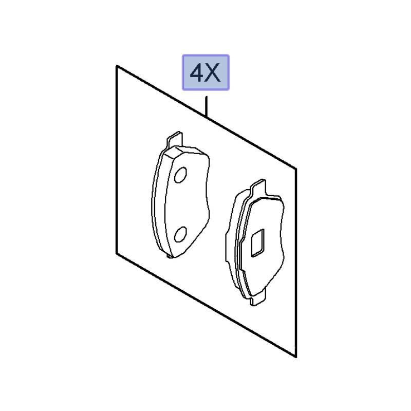 Klocki hamulcowe przednie 95515027 (Combo D)