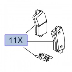 Klocki hamulcowe tył 39021483 (Insignia A)