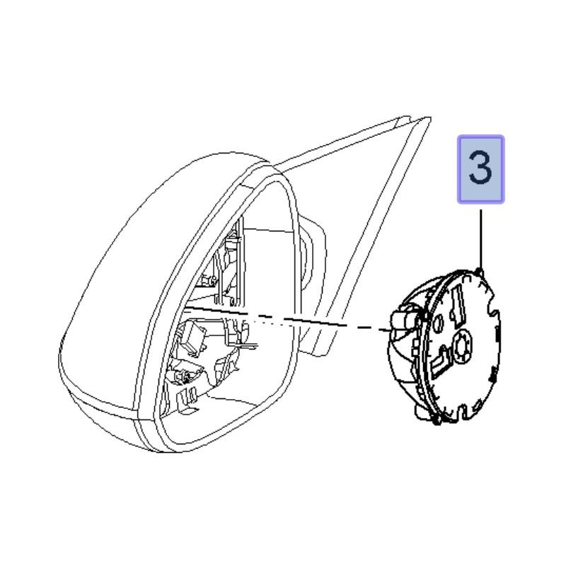 Silnik regulacji lusterka z pamięcią 13502399 (Insignia A)