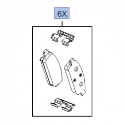 Klocki hamulcowe tylne 13473427 (Astra J, Mokka)