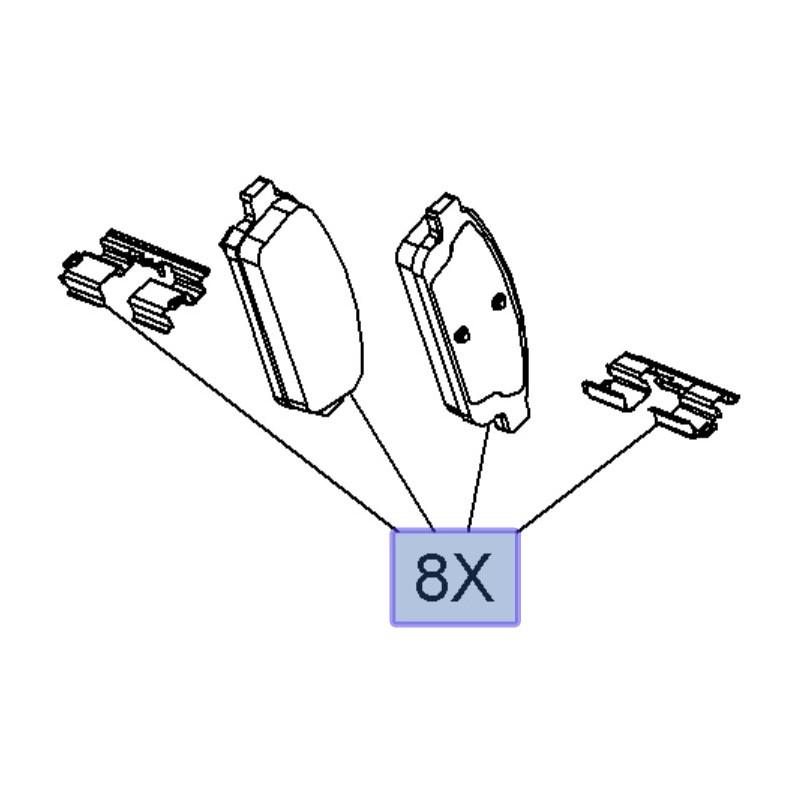 Klocki hamulcowe tylne 13473428 (Astra J, Cascada, Zafira C)