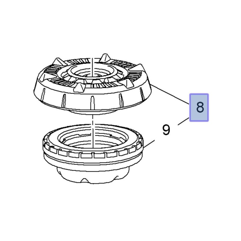 Mocowanie amortyzatora przedniego (Ampera, Astra J, Cascada)