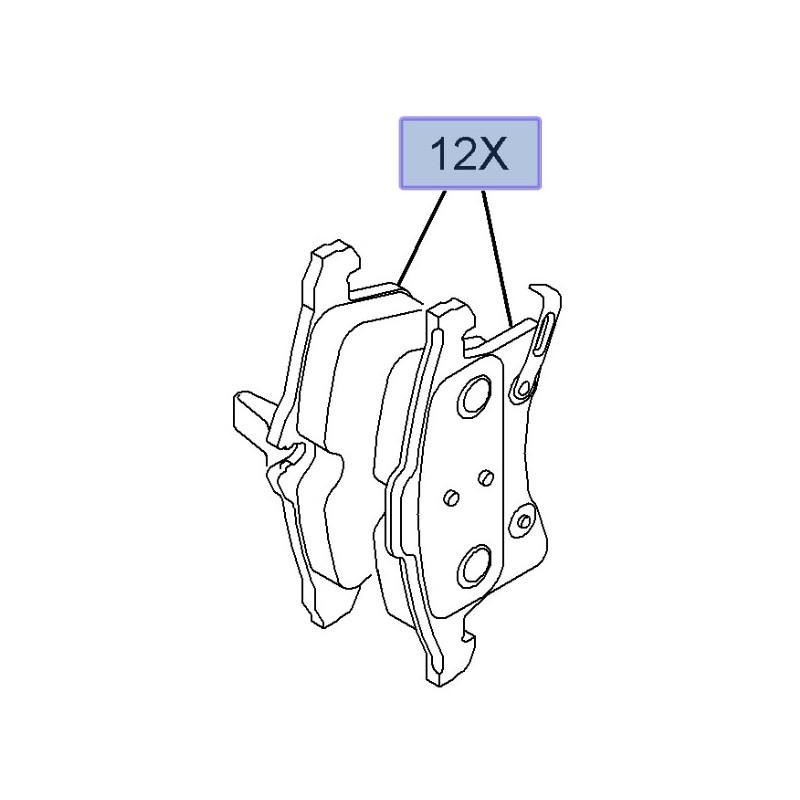 Klocki hamulcowe przednie 93176115 (Astra H, Corsa C, Combo C, Meriva A, Zafira B)