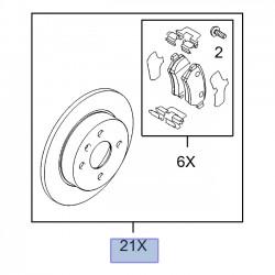 Zestaw hamulcowy tylny tarcze+klocki 93182595 (Astra G, H, Meriva A)