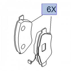 Klocki hamulcowe 95518217 (Combo D)