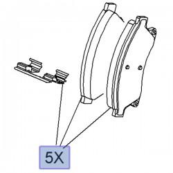 Klocki hamulcowe przednie 95516191 (Astra J)