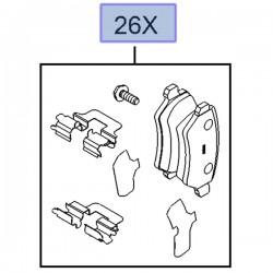 Klocki hamulcowe tylne 93188727 (Astra G, H, Corsa C, Meriva A, B, Zafira A, B)