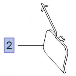 Klapka ucha haka holowniczego 95513027 (Combo D)