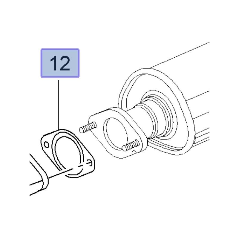 Uszczelka rury wydechowej 13229871 (Astra J, Insignia A, Zafira C)