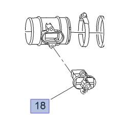 Przepływomierz, czujnik przepływu powietrza 12671624 (Adam, Astra J, Cascada, Cors D, E, Meriva B, Mokka, Zafira C)