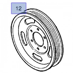 Koło pasowe wału korbowego 90572867 (Agila A, Astra G, H, Corsa B, C, D, Meriva A, Tigra B)