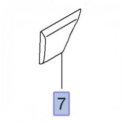 Listwa boczna nadwozia, prawa 93197650 (Movano B)