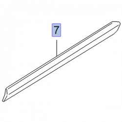 Listwa ochronna tylnego błotnika 95511668 (Combo D)