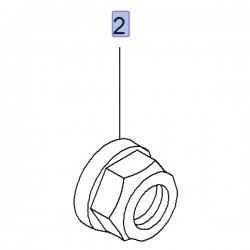 Nakrętka koronkowa przedniej piasty 93865437 (Vivaro A, B)