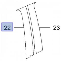 Folia ozdobna drzwi przednie lewe 95389474 (Mokka)